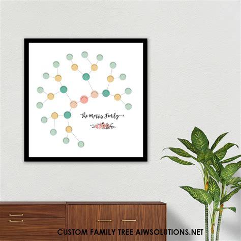 printable family tree wall art family history family tree fan chart genealogy reunion