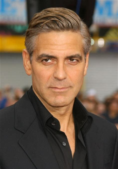 older men hair style with double crown صور جورج كلوني george clooney