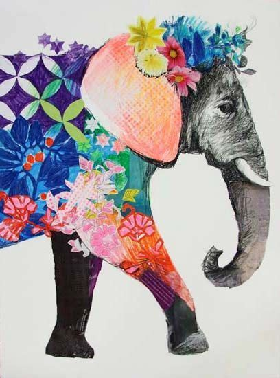 colorful elephant elephants drawing colorful www imgkid the image