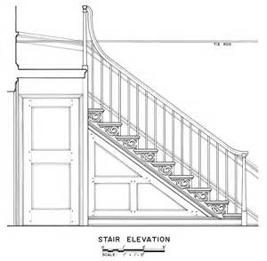 technische zeichnung treppe measuring buildings for the historic american buildings survey