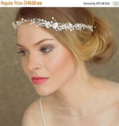 Wedding Hair Accessories Halo by Pearl Halo Bridal Halo Wedding Headband Bridal Headband