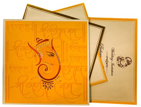 wedding card hindu ganesha themed wedding cards with hindu shlokas
