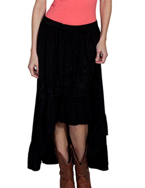 scully western skirt womens honey creek hi lo hem floral