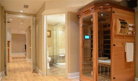 keller sauna home spa renovation and finishing basement in