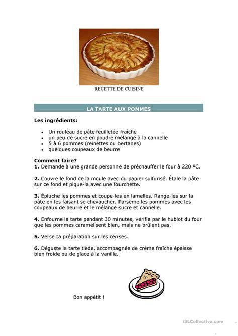 vocabulaire recette de cuisine recette de cuisine fiche d exercices fiches p 233 dagogiques