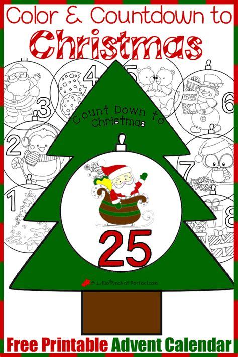 printable advent calendar craft free printable advent calendar color and countdown to