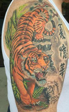 riverview tattoo large tiger on shoulder and bicep tattoos tiger