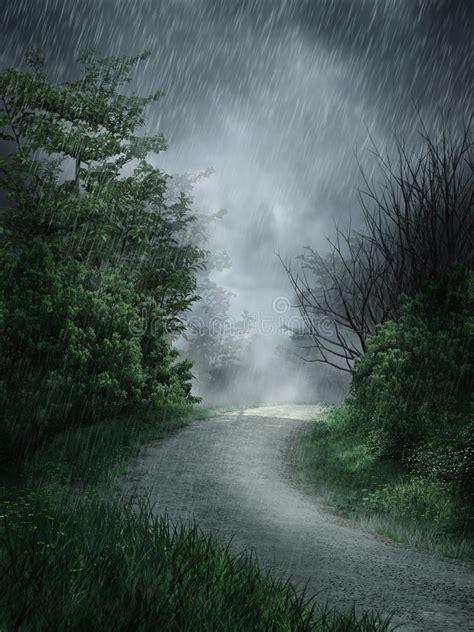 imagenes de otoño lluvioso paisaje lluvioso stock de ilustraci 243 n ilustraci 243 n de
