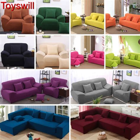 Cover For L Shaped by 1 2 3 4 Seater L Shape Stretch Chair Loveseat Sofa