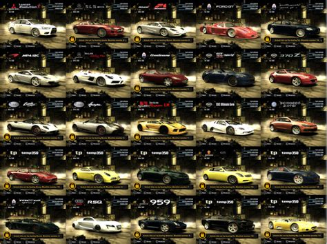 Mainan Maps City Of Cars gambar gambar mobil most wanted need for speed lengkap dan