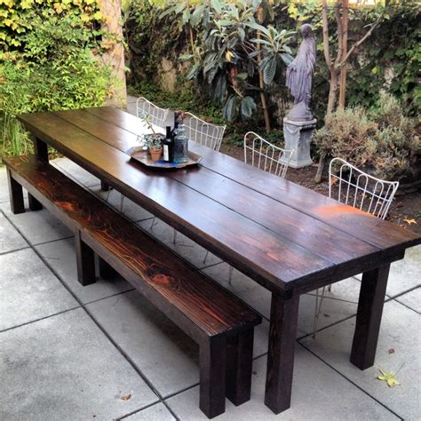 outdoor table with bench rustic outdoor furniture with modern concept worth to have traba homes
