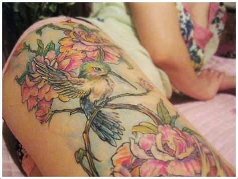 3d hummingbird tattoos 3d hummingbird designs for on thigh tribal