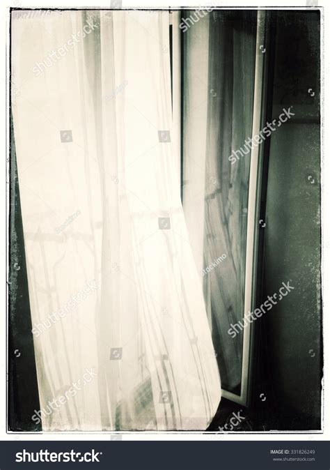 voile curtains for french doors voile curtain at open french doors stock photo 331826249