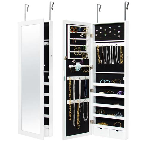 wall mirror jewelry cabinet mirrored hanging jewelry cabinet armoire organizer wall