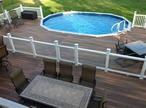 pool deck 40 uniquely awesome above ground pools with decks diy