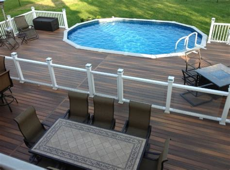 pool decks 40 uniquely awesome above ground pools with decks