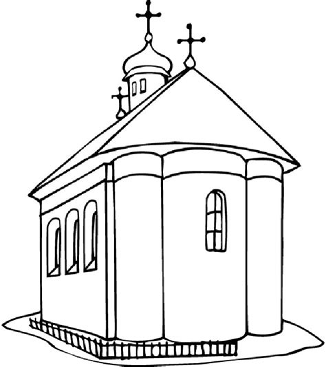 free church coloring pages