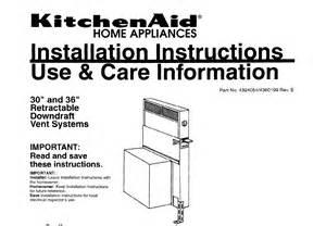 Cooktop Brands Kitchenaid Ventilation Hood 30 Quot And 36 Quot Retractable