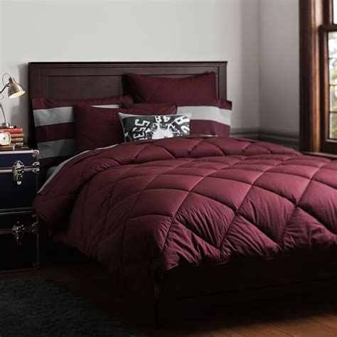 solid comforter solid comforter sham burgandy pbteen