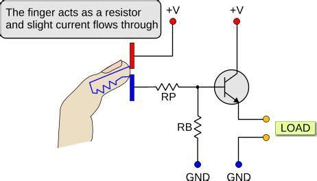 transistor to touch طریقه ی ساخت کلید لمسی
