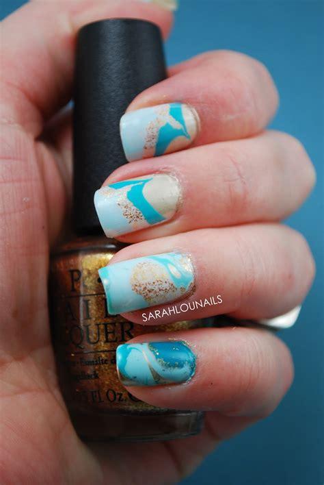 Water Nail by Lou Nails Water Marble Nails