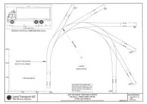 school turning radius template rts 18 nz transport agency