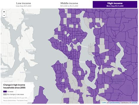 seattle income map are seattle homes being purchased with income or