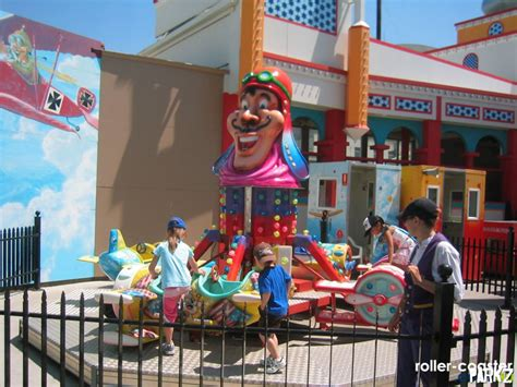 theme park names that havent been used red baron childrens ride at luna park parkz theme parks