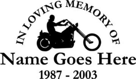 Biker Funeral Sticker by New In Loving Memory Of Car Window Decals Vinyl