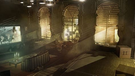 Revolution Room by Deus Ex Human Revolution Cyberpunk Sci