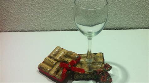 rbol de navidad con tapones de corcho manualidades navidad posavasos con tapones de corcho