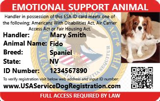 register as emotional support animal products usa service animal registration