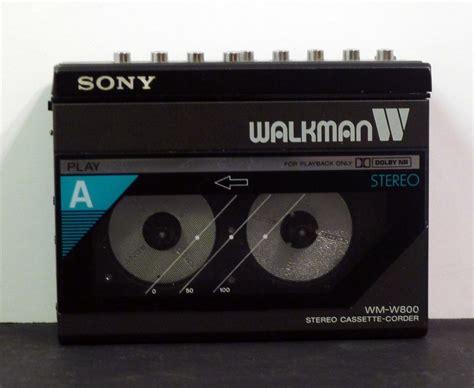 walkman cassette cassette players sony walkman sided wm w800