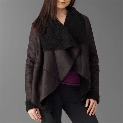 faux shearling drape jacket romeo juliet couture jackets