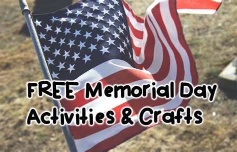 memorial day crafts hopping from k to 2 free memorial day activities and crafts