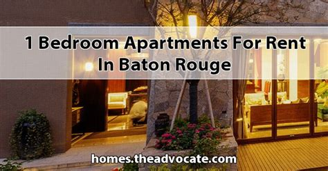 1 bedroom apartments baton home design