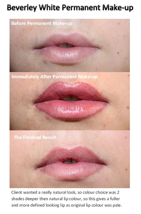 do lip tattoos fade permanent make up lip blush colour with fade up to 50 to