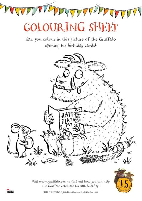 The Gruffalo Colouring Pages Free Coloring Pages Of Gruffalo Logo by The Gruffalo Colouring Pages