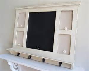 Message center with hooks chalkboard magnet board by shugabeelane