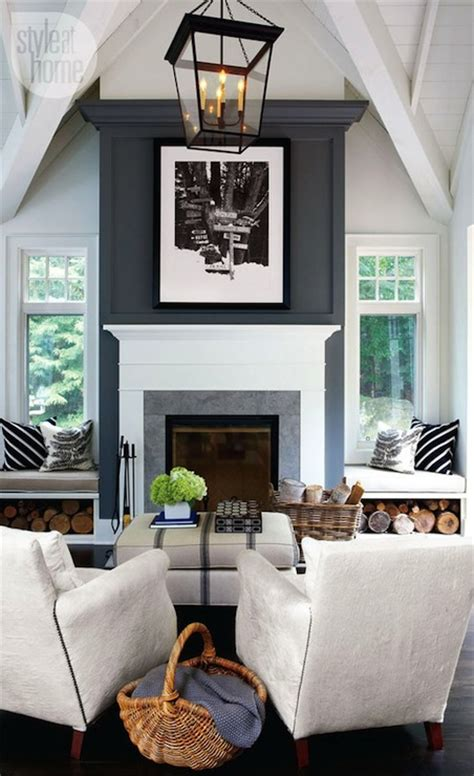 fireplace window seats contemporary living room