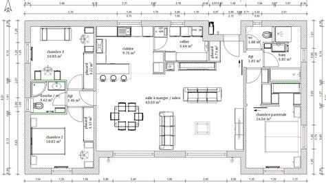 Plan De Maison Plein Pied En U fabulous plan maison plein pied images about plan on