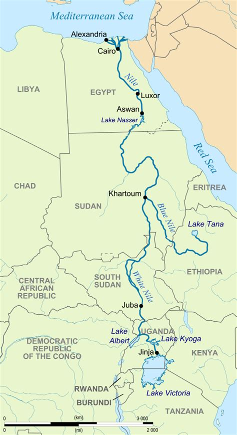 nile river on a africa map file river nile map svg