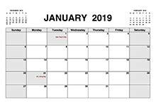 free 2019 pdf calendar templates download printable