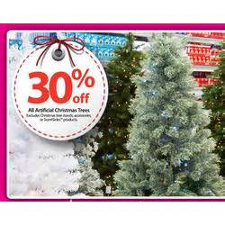 artificial christmas trees entire stock excludes