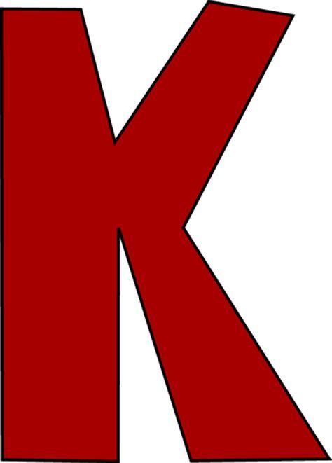 Red Letter K Clip Art   Red Letter K Image