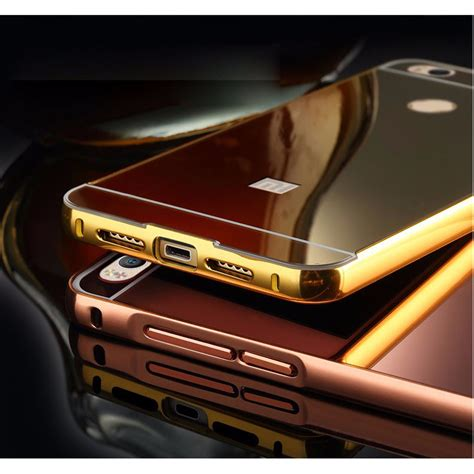Aluminium Bumper With Mirror Back Cover For Xiaomi Mi Xiaomi Mi5 Gold aluminium bumper with mirror back cover for xiaomi mi4s