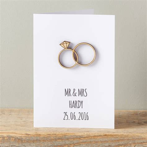 wedding sts for card personalised intertwined wedding ring card by owl otter