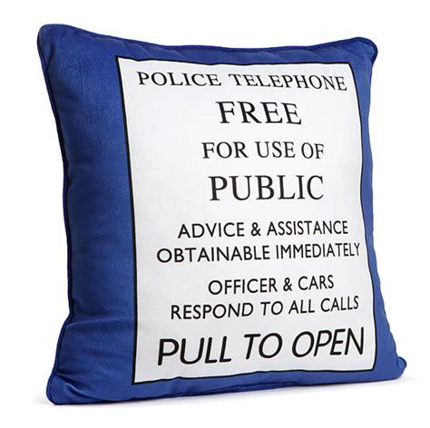 exclusive doctor who tardis pillow thinkgeek