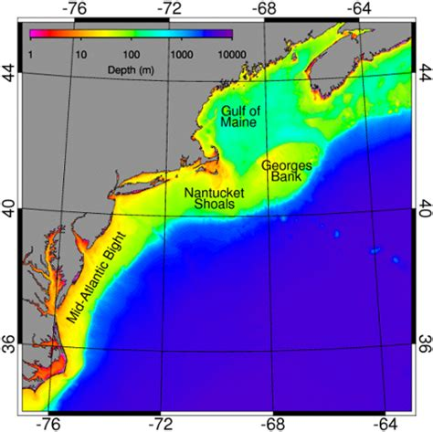 Continental Shelf Atlantic by Ecology Of The Northeast U S Continental Shelf Physical
