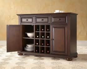 Kitchen Servers Furniture Crosley Furniture Alexandria Buffet Server W Wine Storage